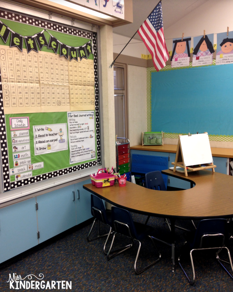 a small group teaching area is kindergarten classroom must have