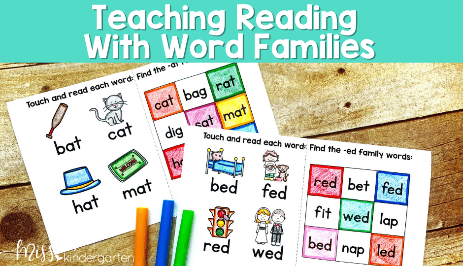 tips and ideas for using word families to teach reading in the primary classroom