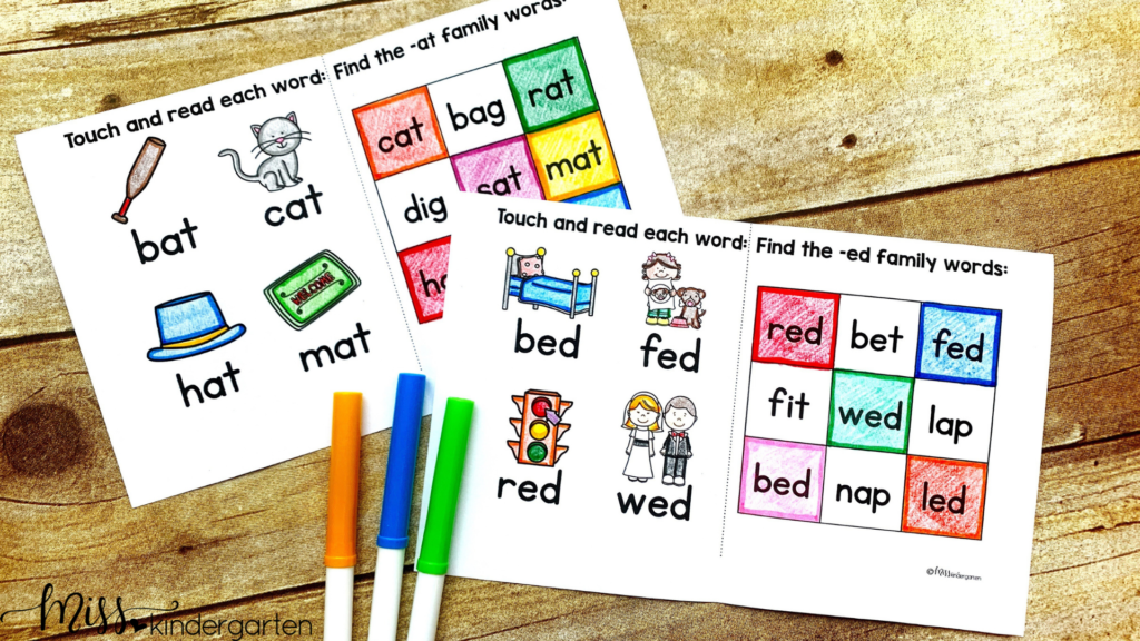 Teaching Reading with Word Families