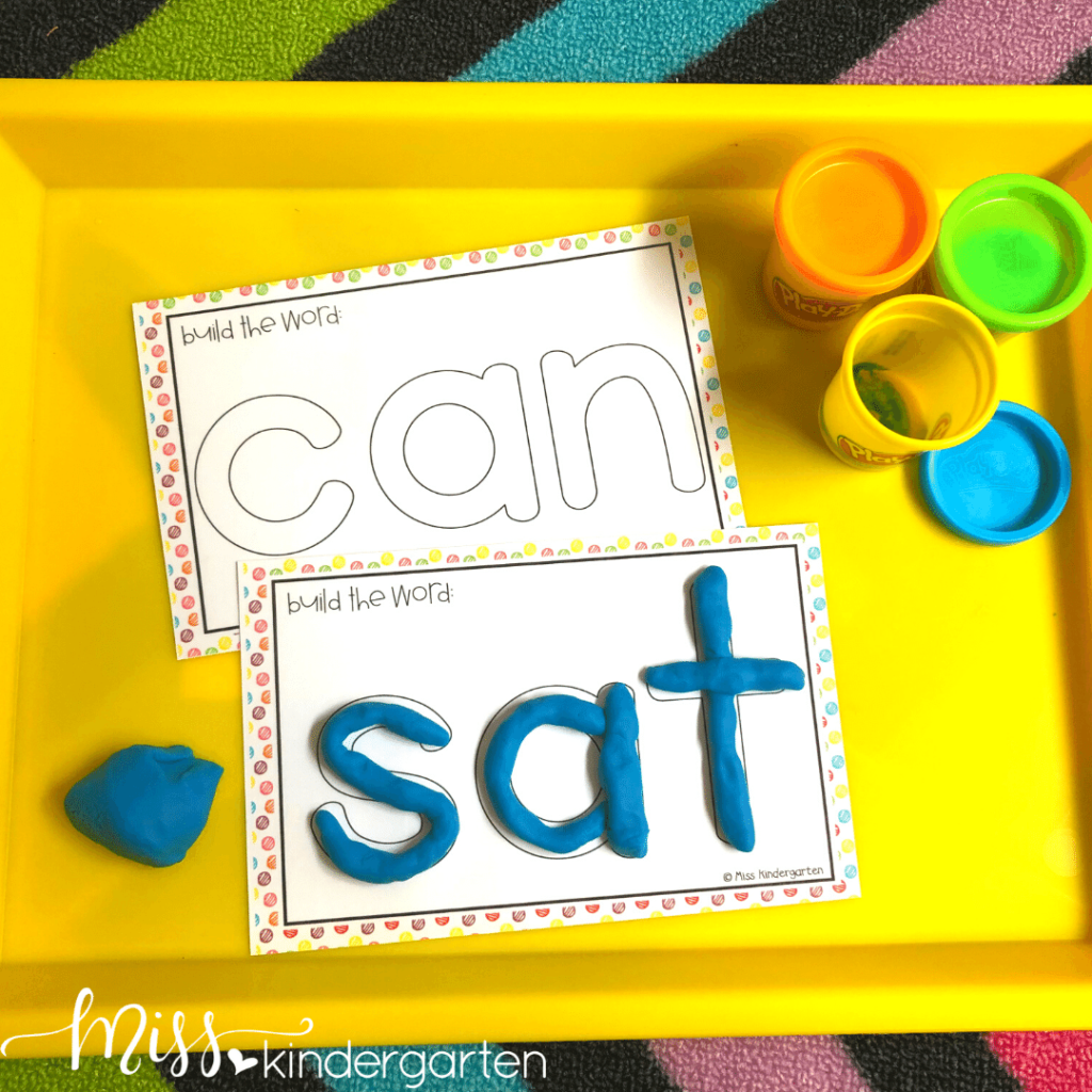 Morning tubs are a great way to review sight words with hands-on activities like play dough.  These sight word play dough mats are great for morning work.