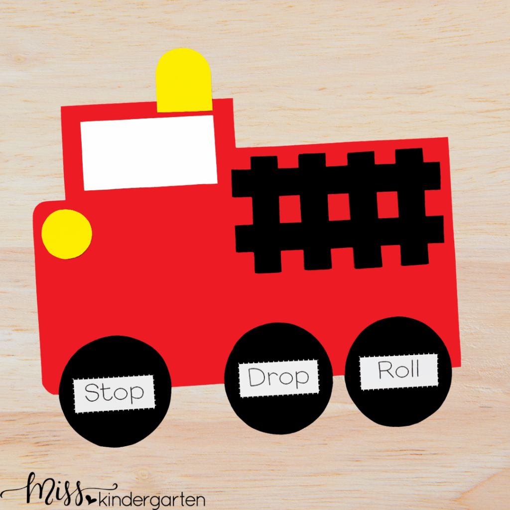 students will work on fine motor skills with this fire truck craft