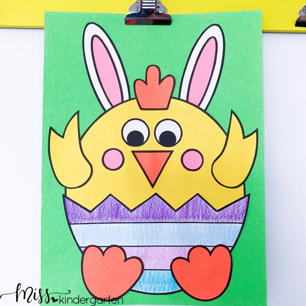 coloring, cutting and gluing all develop fine motor skills with this fun Easter craft