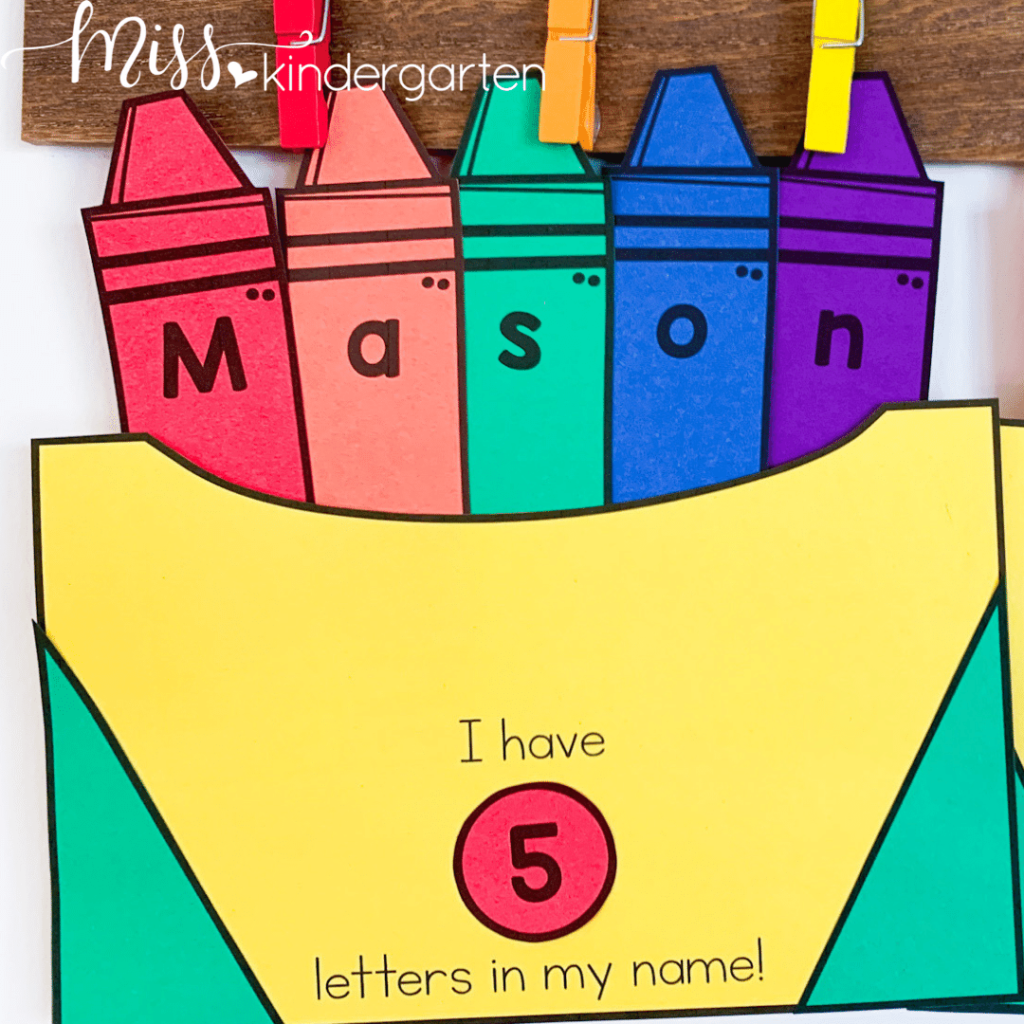 crayon box craft helps students with cutting, gluing, following directions and names