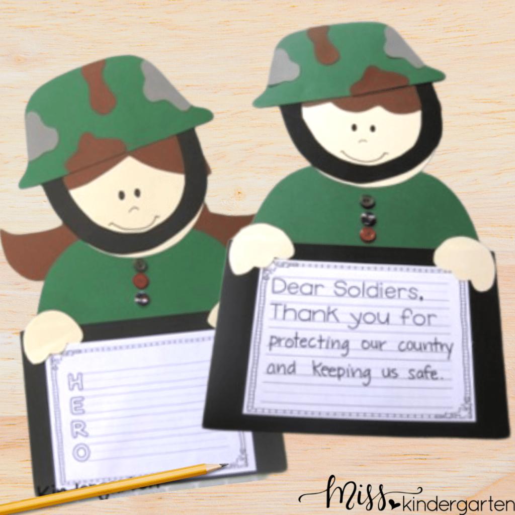 Veteran's Day crafts for kindergarten