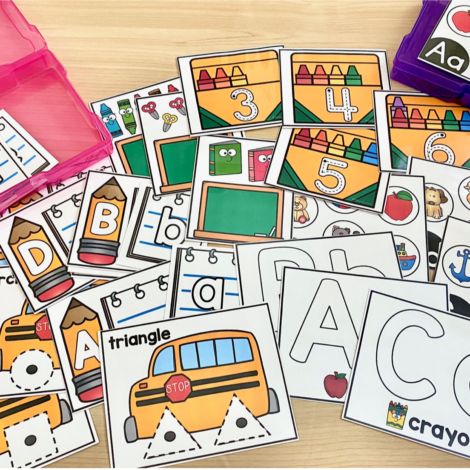 Prepping and organizing centers can be easy with these low prep center task card activities