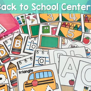 Low Prep Back to School Centers for Kindergarten