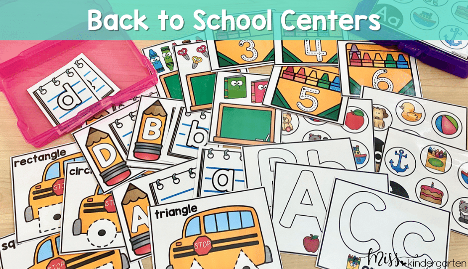 Start your year off with these fun and engaging back to school centers for kindergarten