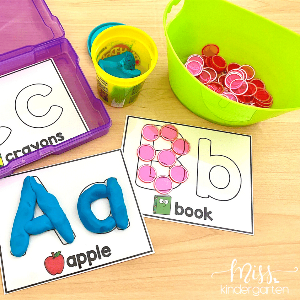 letter formation center with fine motor activities makes a great Back to School Center