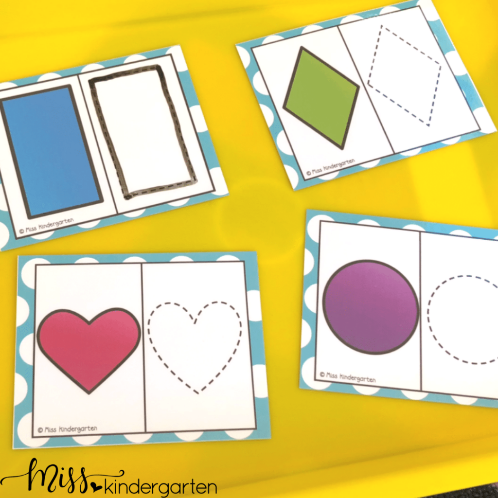 this shape matching morning math tub is a great matching activity for basic shapes