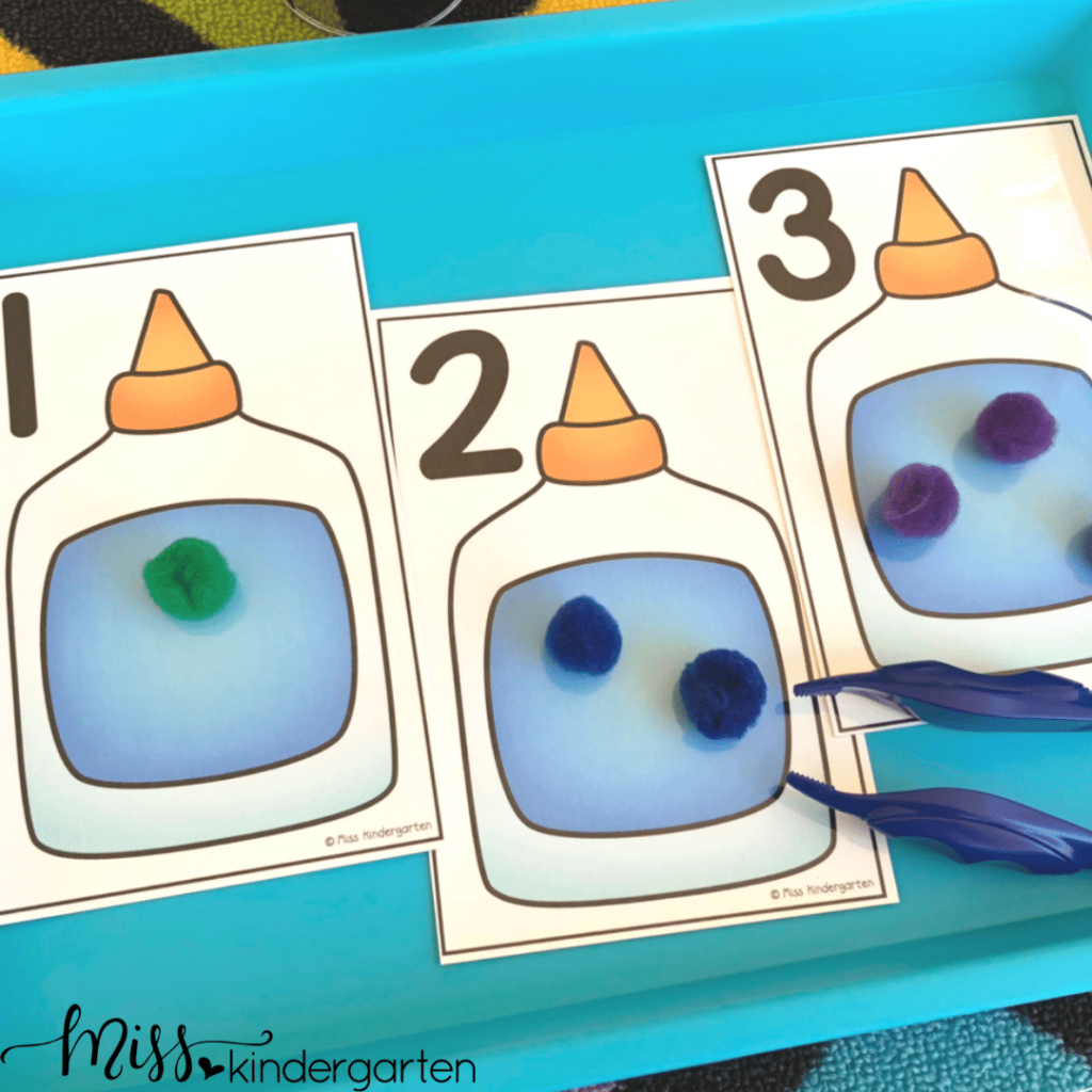 This number identification and counting morning tub activity is great for the beginning of the school year.