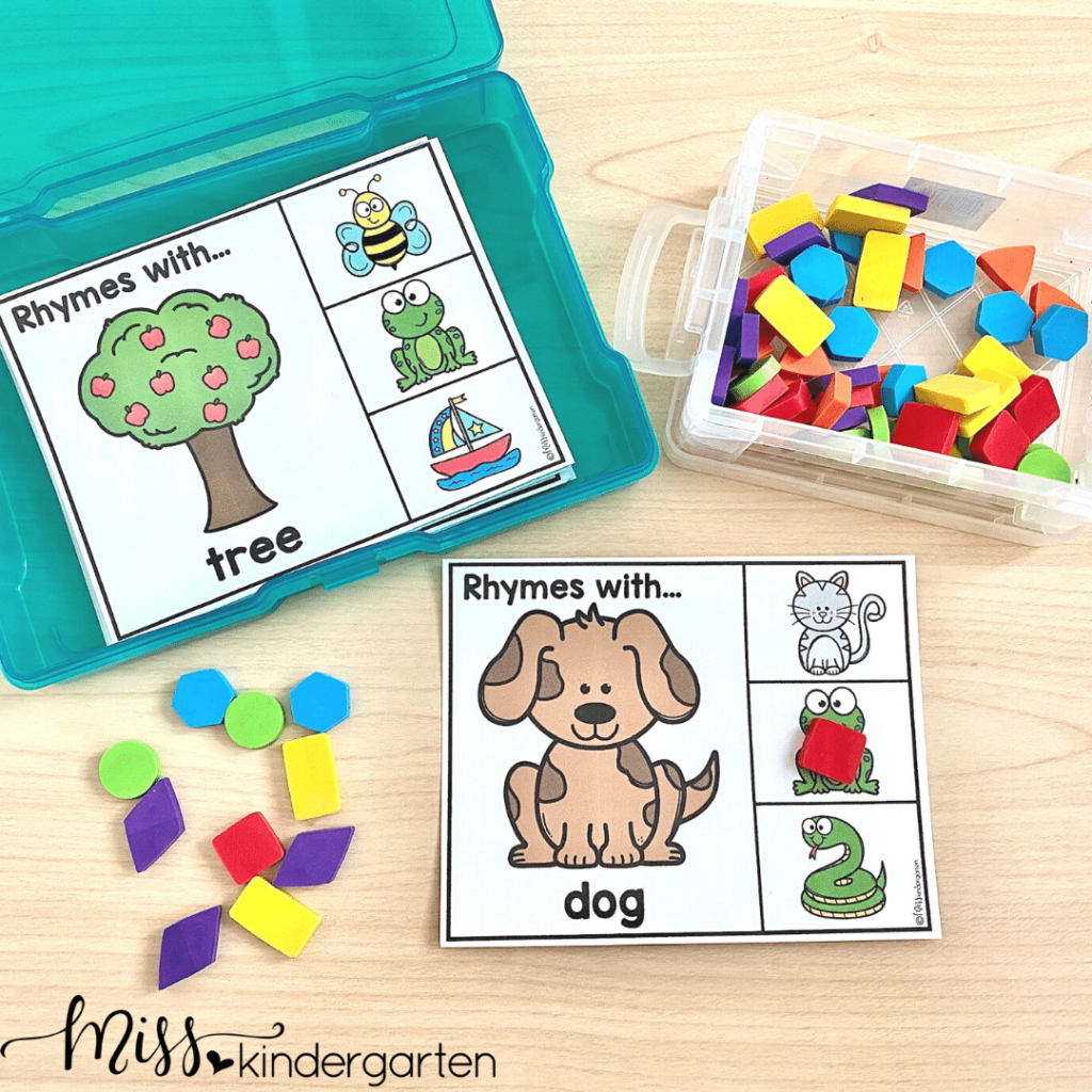 Take the time to prep and organize centers so that you can save time all year long.