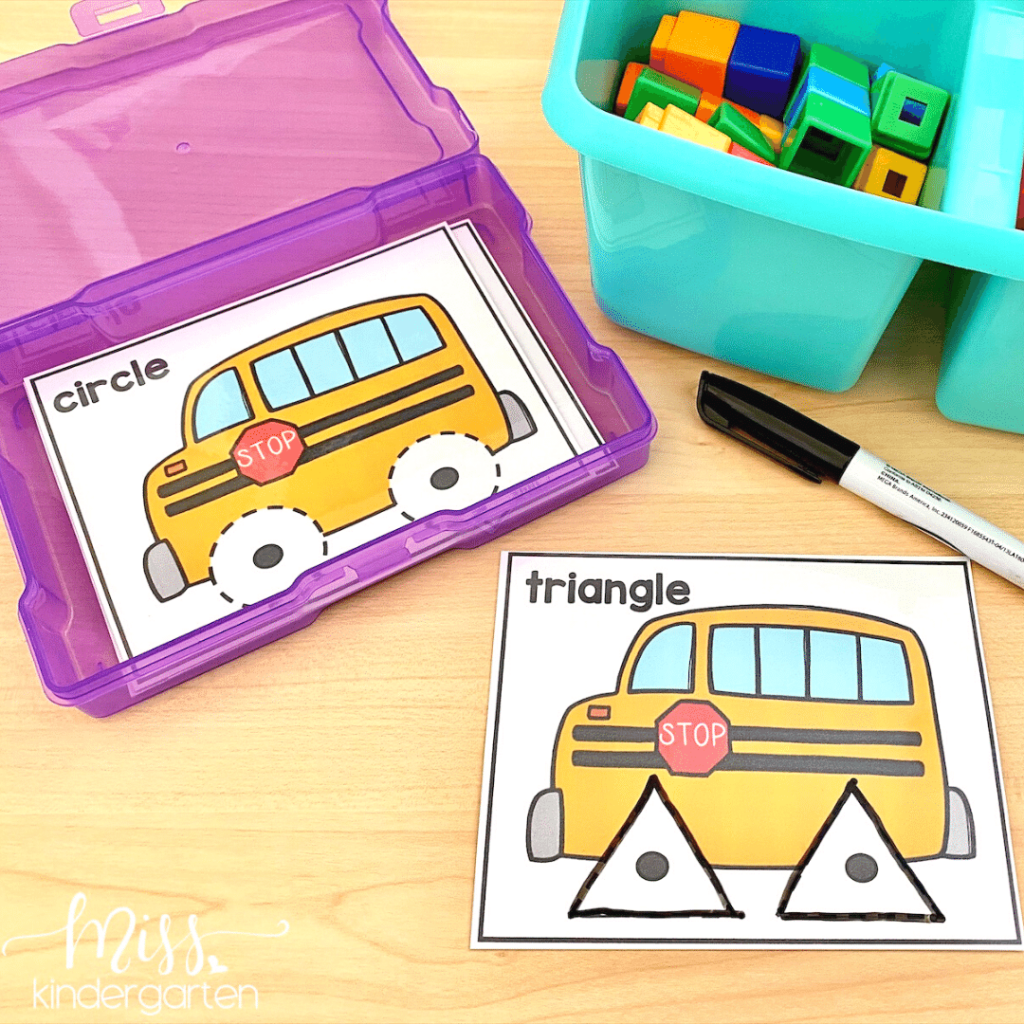 Shape tracing activities are great for Back to School centers