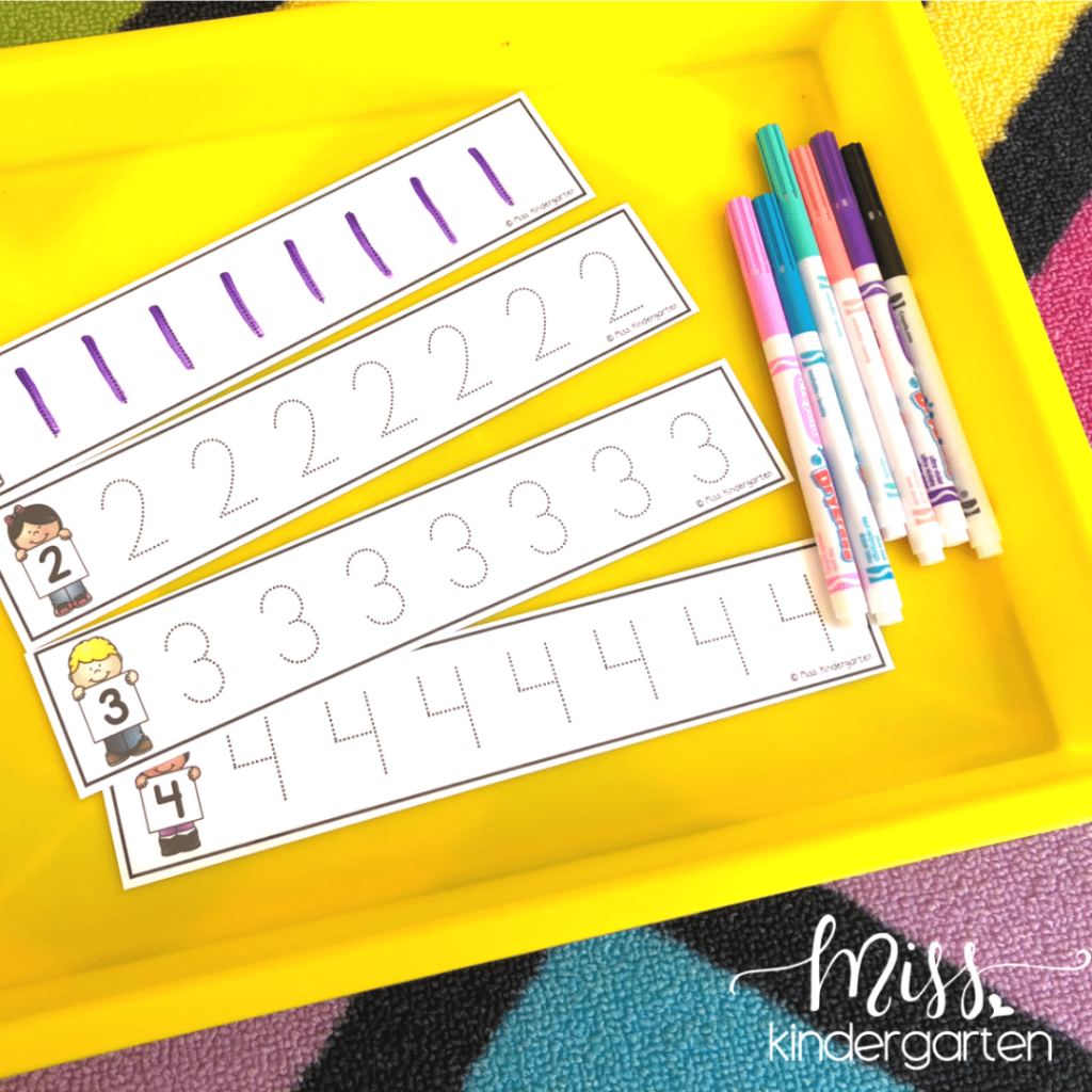 These beginning of the year math morning tubs will help your students with foundational math skills