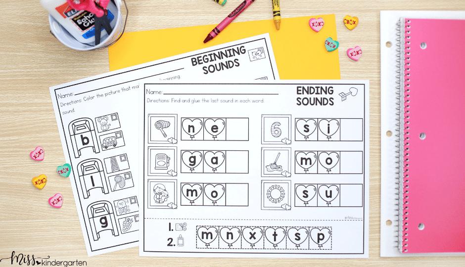 February no prep printable activities for kindergarten