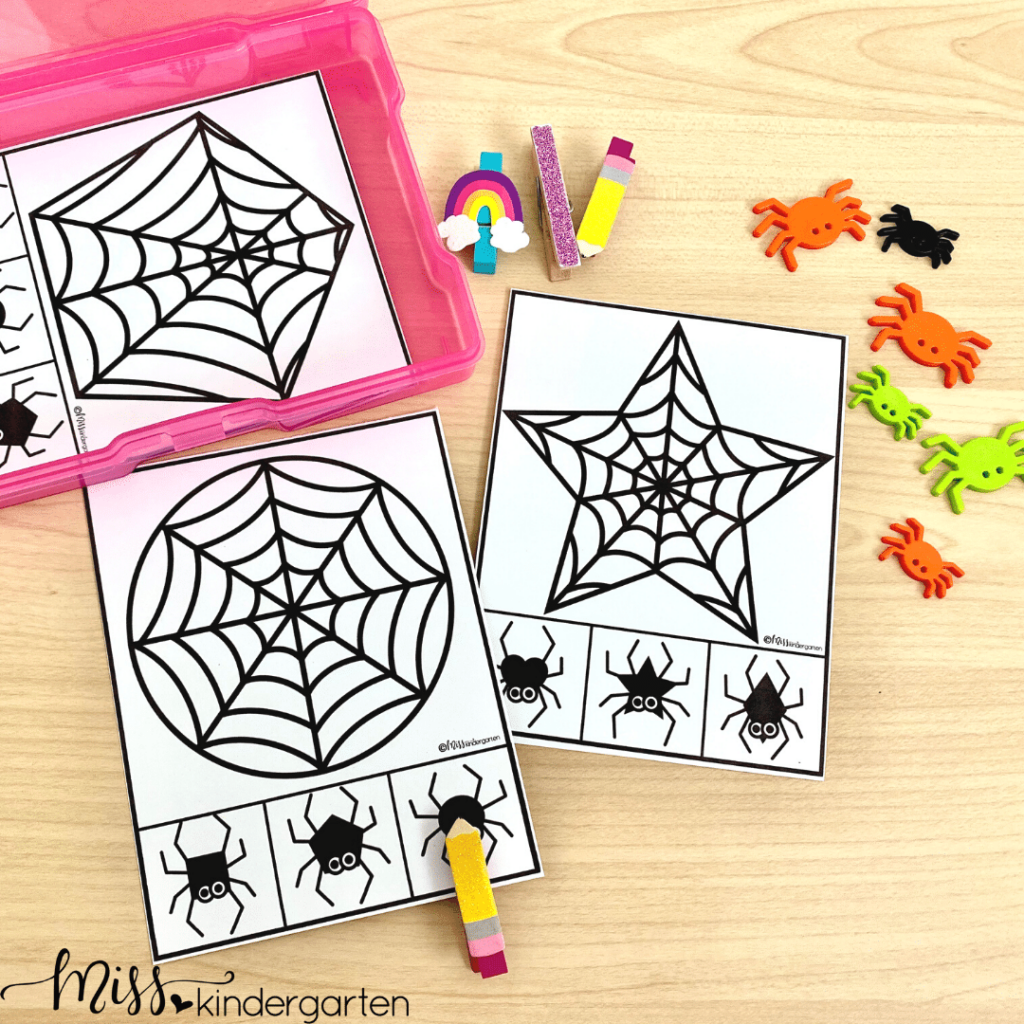 Your students will love identifying and matching shapes with these 2D Shape spiderwebs.