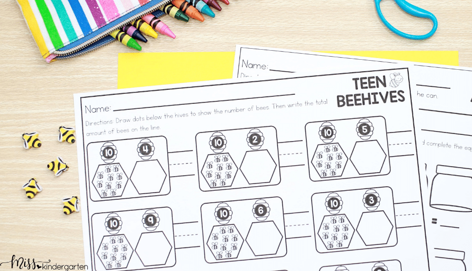 End of the Year no prep printable activities for kindergarten