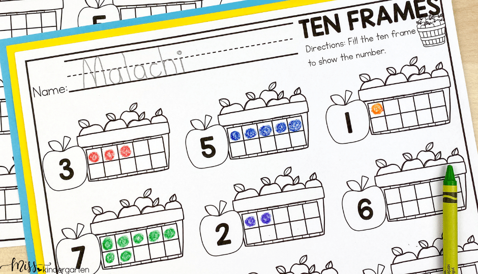 September no prep activities for kindergarten is filled math and literacy