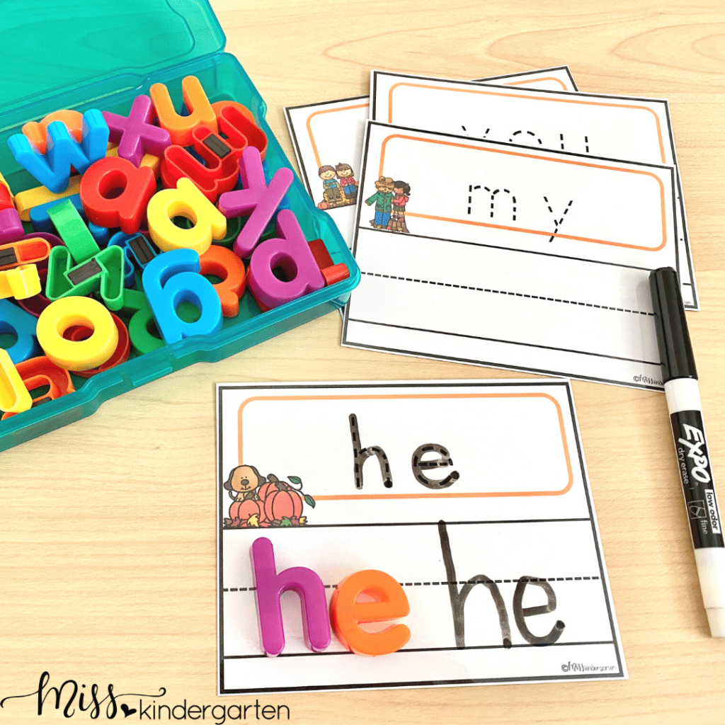 introduce your students to simple sight words with these sight word tracing, writing and building activities