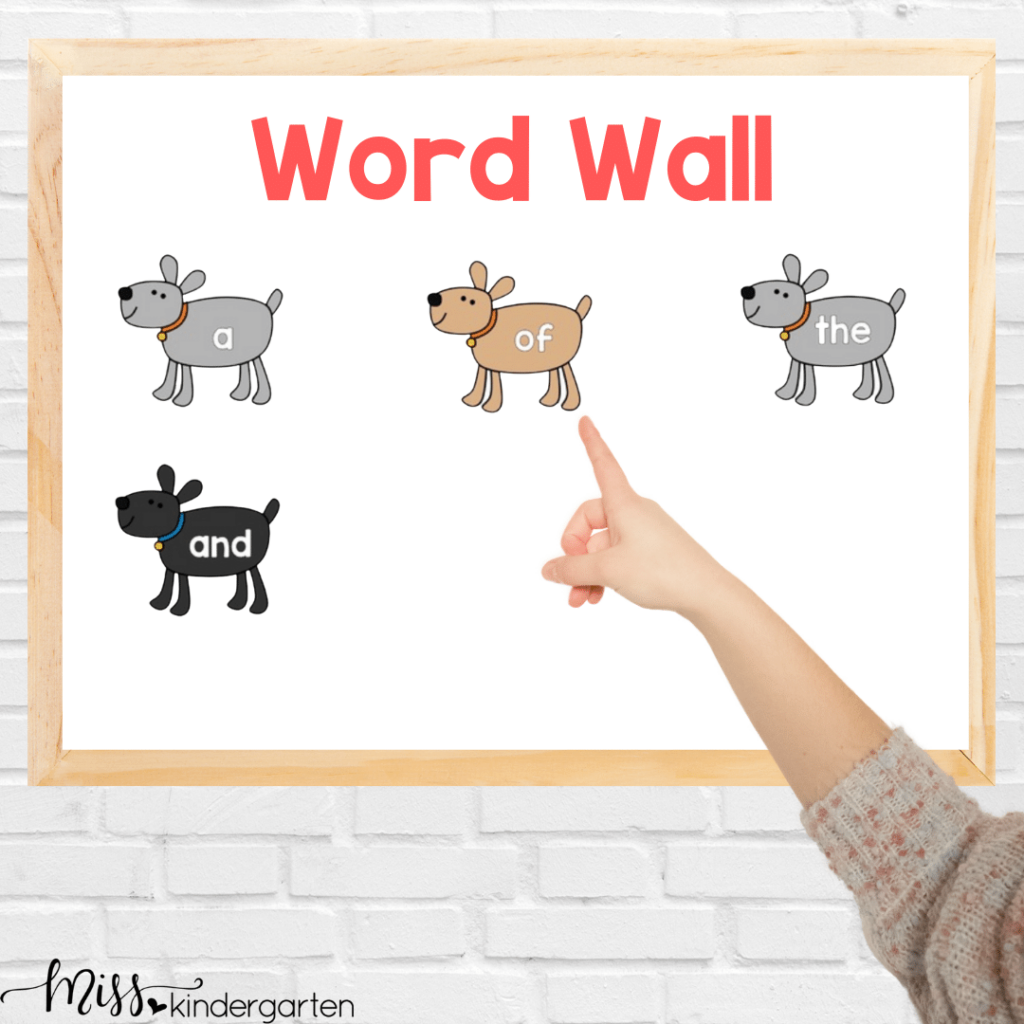 reading the word wall is a great way to practice sight words quickly as part of calendar time