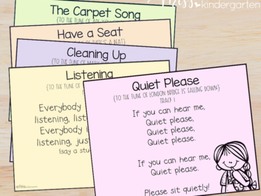 Singing is a great way to get student's attention and reinforce rules and procedures