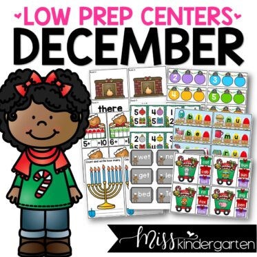 Low Prep December Centers | Math and Literacy