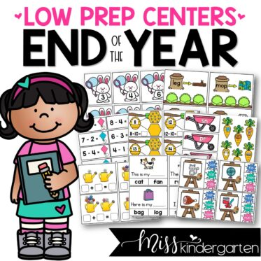 Low Prep End of the Year Centers | Math and Literacy