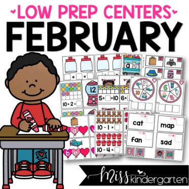 Low Prep February Centers | Math and Literacy