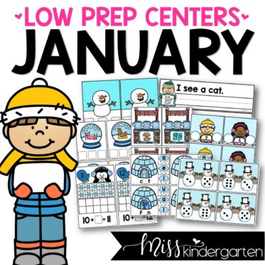 Low Prep January Centers | Math and Literacy