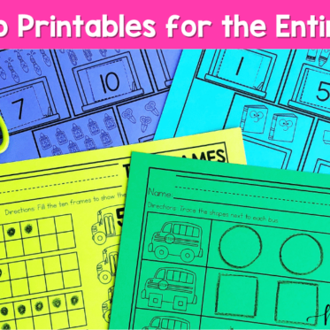 No Prep Kindergarten Printables for the Entire Year