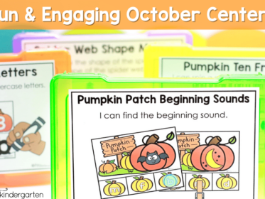 These October center activities will help you fill your centers with skill based activities to help your kindergarten students
