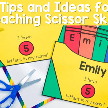 6 Tips and Ideas for Teaching Scissor Skills
