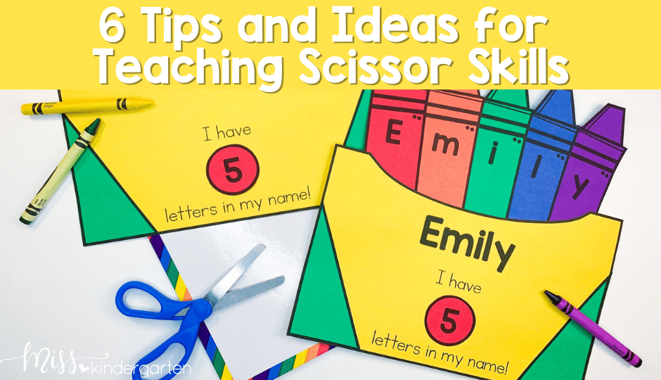 Help your primary students master scissor skills and cutting with these 6 steps and ideas