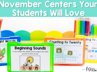 Dive into the month of November with all new, engaging centers activities for your Kindergartners!