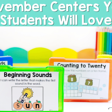 November Centers Your Students Will Love