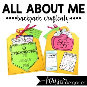all about me backpack craft