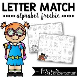 Alphabet Letter Match Freebie