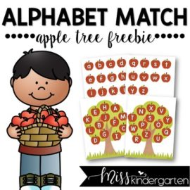 Alphabet Matching Apple Tree Freebie