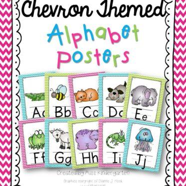 Alphabet Posters {chevron print}