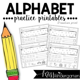 Alphabet Practice Pages • Dnealian Alphabet Worksheets