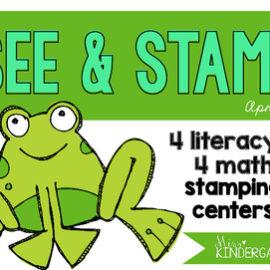 April Centers for Kindergarten