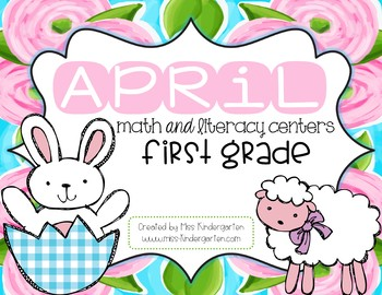 April Math and Literacy Centers for First Grade