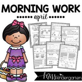 April Morning Work for Kindergarten