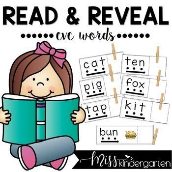 CVC Words Read and Reveal   CVC Words Flash Cards