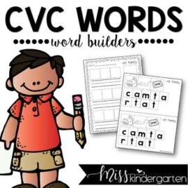 CVC Words Worksheets • Word Builders