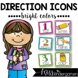 Picture Directions Cards Bright Colors