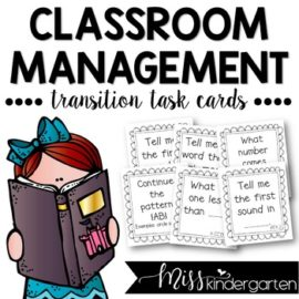 Classroom Management Transition Task Cards