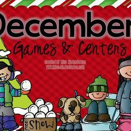 December Centers for Kindergarten Math and Literacy