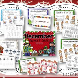 December Math Centers for Kindergarten