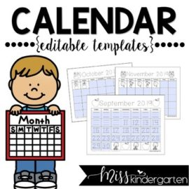 2020-2021 Editable Calendar Templates