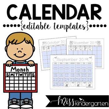 Editable Calendar Templates for 2021, 2022, and 2023